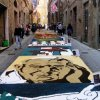 Infiorata, flower art on the streets of nearby Citta della Pieve